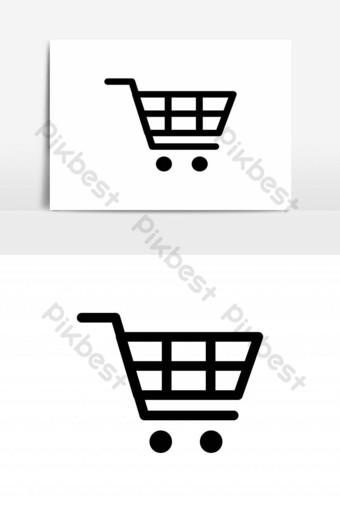 icono de carrito de compras plantilla de vector de fondo transparente Elementos graficos Modelo EPS