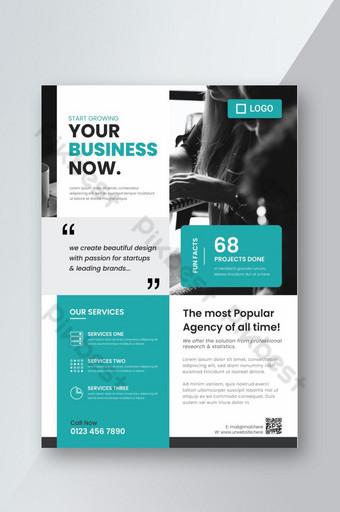 Modèle de flyer et d'affiche d'entreprise de mise en page moderne Modèle AI