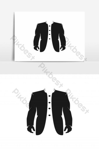 traje, tienda de ropa, logotipo, diseño, inspiración Elementos graficos Modelo PSD