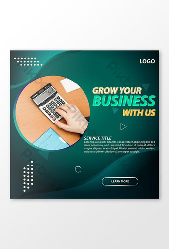banner de redes sociales de negocios de marketing digital fondo abstracto de vector cuadrado Modelo EPS