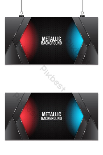 estera abstracta negra geométrica roja y azul elegante futurista Fondos Modelo AI
