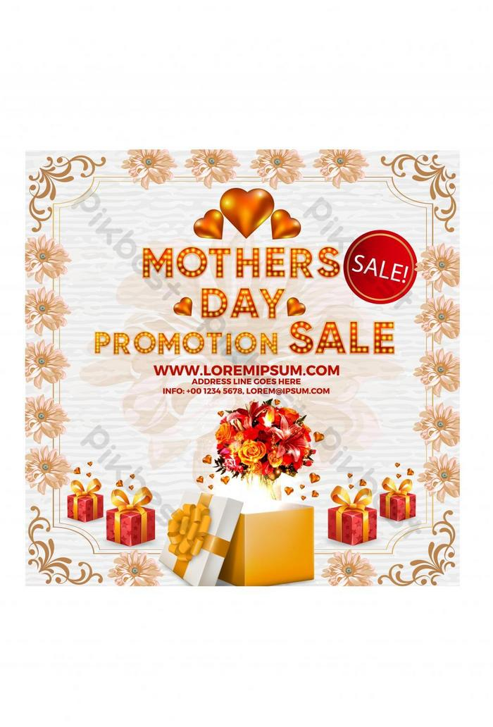 happy mothers day luxury promotion style design