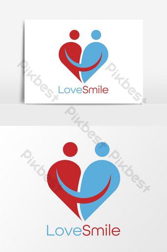 amor sonrisa plantilla de logotipo editable archivo eps Elementos graficos Modelo EPS