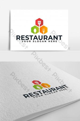 Nhà hàng Thực phẩm Dụng cụ nhà bếp Nấu ăn Logo Vector Bản mẫu AI