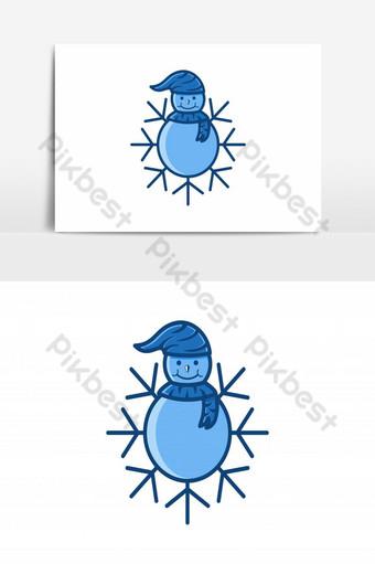 inspiración de diseños de icono de logotipo de bola de nieve y nieve aislado sobre fondo blanco Elementos graficos Modelo AI