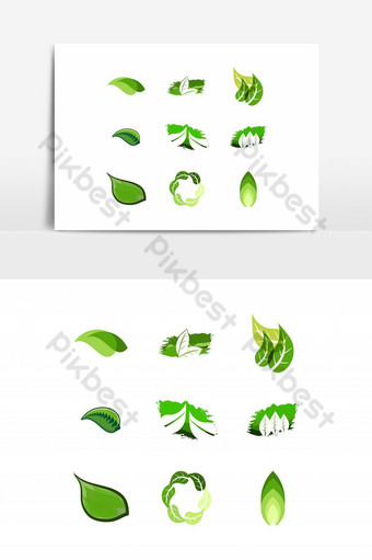 set box and leaf logo Designs Inspiration Isolated on White Background PNG Images Template AI