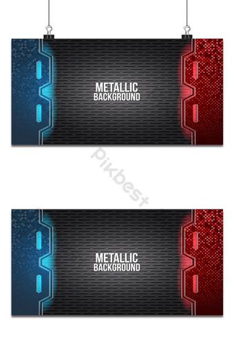 estera abstracta negra geométrica fondo rojo y azul elegante futurista brillante Fondos Modelo AI