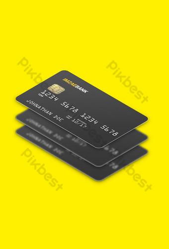 نموذج بطاقة بلاستيكية عائمة متساوي القياس قالب PSD