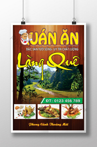 poster quảng cáo làng quê thực phẩm nền Bản mẫu CDR