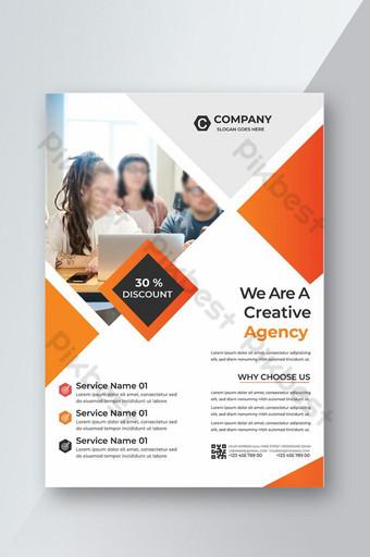 Flyer d'entreprise d'idées créatives Modèle AI