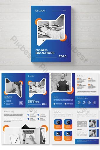 Creative Colorful Bi Fold Brochure Design & magazine cover page design template Template AI