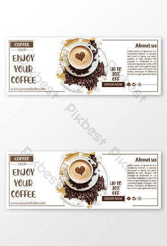 coffeeee social media sell offer post. Template PSD