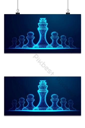 زعيم النجاح مفهوم ملكة الشطرنج الرقم كرمز للقيادة التحدي الناجح خلفيات قالب AI