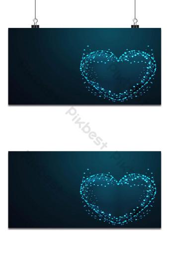 amor vector esferas de malla de escombros voladores concepto de línea delgada alambre abstracto pol baja poli Fondos Modelo AI