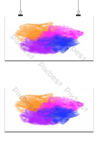 Fondo de acuarela de textura colorida Fondos Modelo EPS