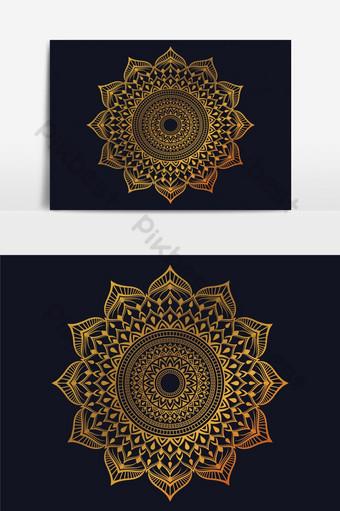 خلفية ماندالا الفاخرة مع نمط الأرابيسك الذهبي الطراز العربي الإسلامي الشرقي خلفيات قالب EPS