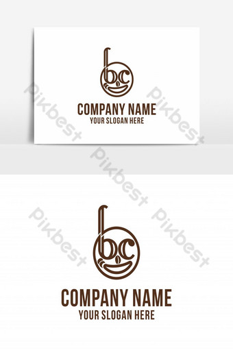 Coffeeeeeee smile logo diseños inspiración aislado sobre fondo blanco. Elementos graficos Modelo AI