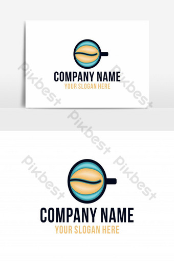 Coffeeeeeee cup logo diseños inspiración aislado sobre fondo blanco. Elementos graficos Modelo AI