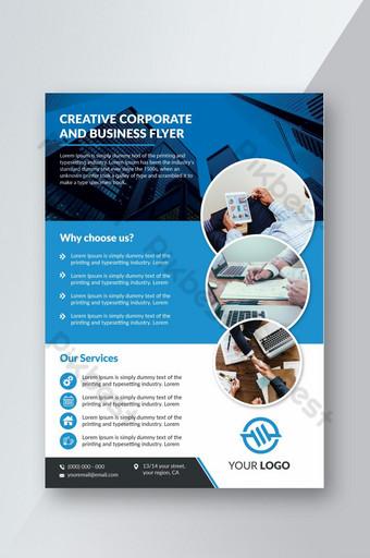 Propre format A4 de flyer d'entreprise polyvalent avec 300 dpi prêt pour l'impression Modèle AI