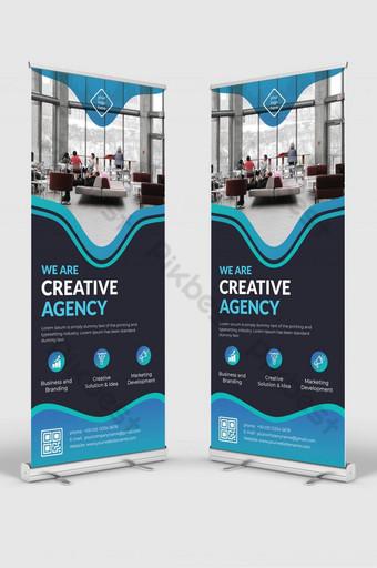 negocio corporativo creativo roll up banner diseño plantilla vector Modelo AI