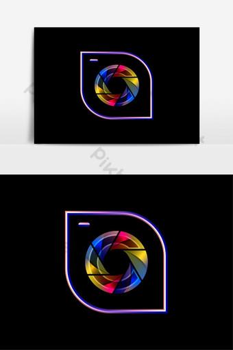 Icono de lente de zoom de cámara concepto de diseño de logotipo de fotografía abstracta Elementos graficos Modelo AI