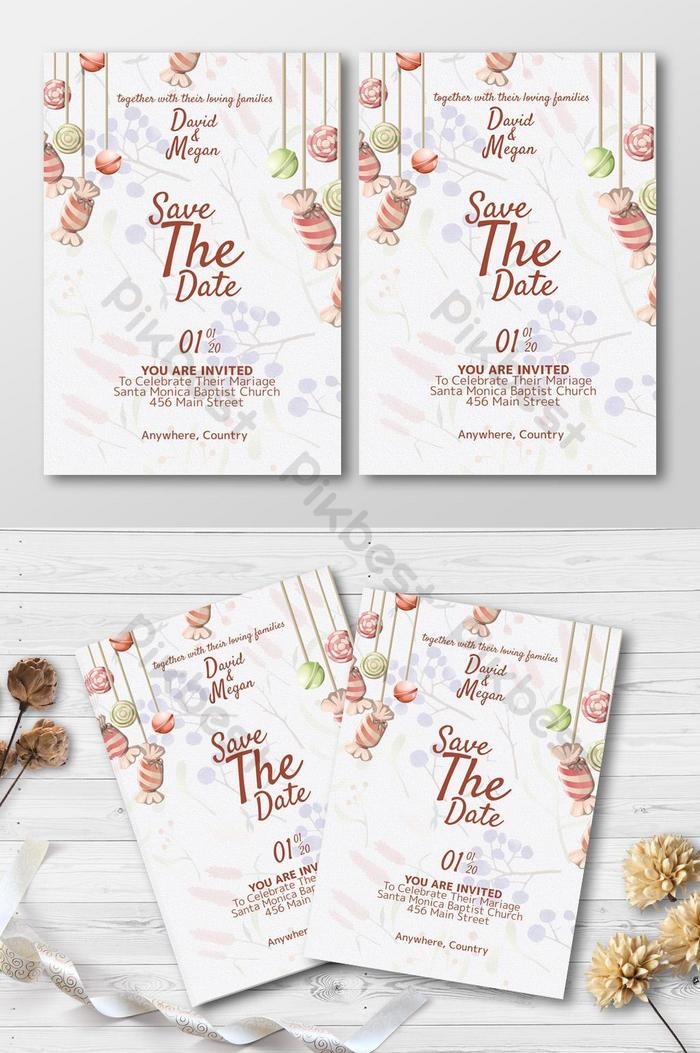 Classic Vintage Design Wedding Invitation Card Template With Harmony Color Psd Free Download Pikbest