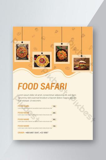 Nouveau dépliant de restaurant de promotion de produits alimentaires Modèle AI