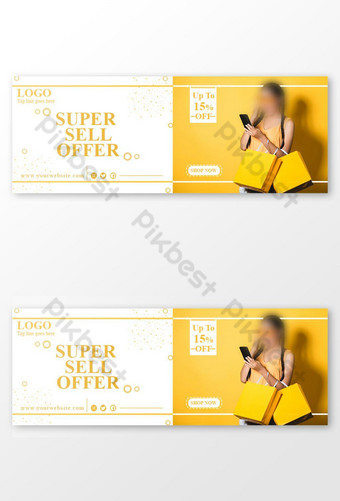 Super Sell Offer Facebook Cover Post. Template PSD