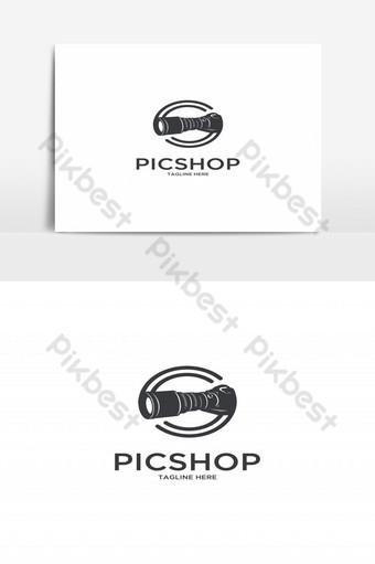 logo de fotógrafo de cámara de tienda de pic Elementos graficos Modelo EPS