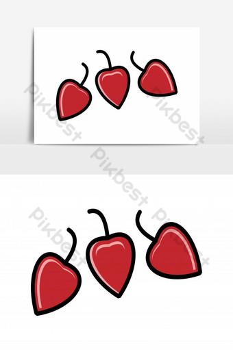 inspiración de diseños de logotipo de chile rojo aislado sobre fondo blanco Elementos graficos Modelo AI