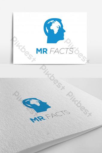 Templat konsep desain logo vektor informasi Templat AI