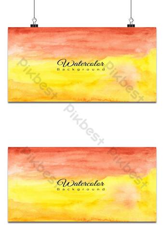 Fondo de acuarela horizontal rojo amarillo y naranja Fondos Modelo EPS