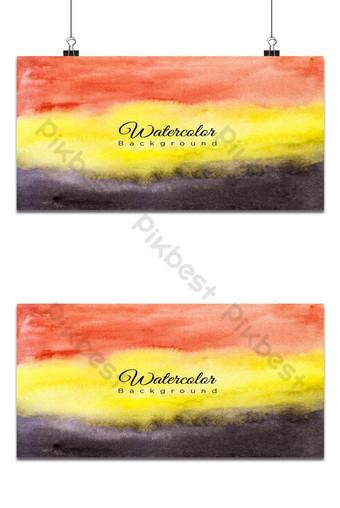 Fondo horizontal acuarela rojo amarillo y negro Fondos Modelo EPS