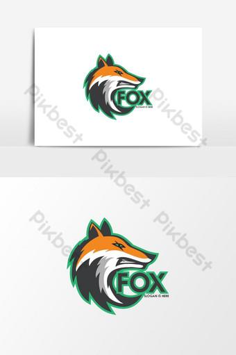 狐狸吉祥物標誌圖標圖形模板 元素 模板 AI