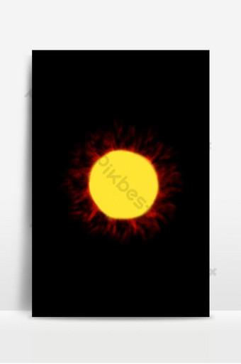 amarillo cálido el sol irradia calor como humo sobre fondo negro oscuro en el espacio Fondos Modelo JPG