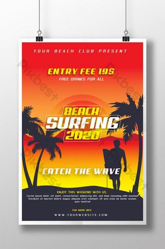 surf de playa moderno 2020 paraíso para club de playa Modelo AI