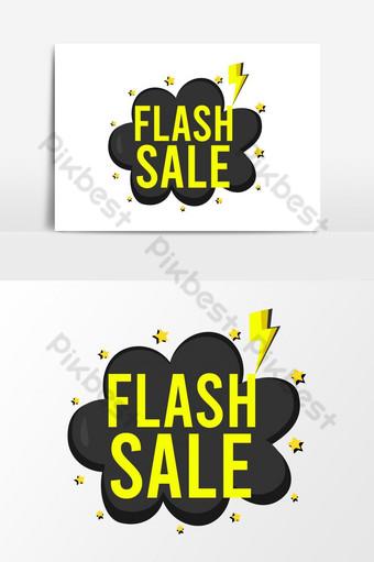 icono de venta flash de vector elegante para redes sociales Elementos graficos Modelo AI