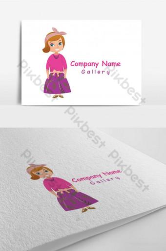diseño de plantilla de logotipo de tienda de ropa Modelo AI