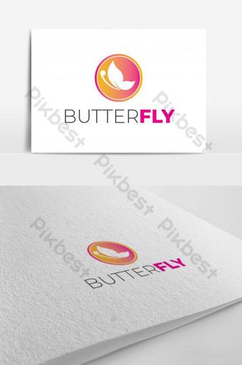 diseño de logotipo colorido mariposa para spa de belleza Modelo AI