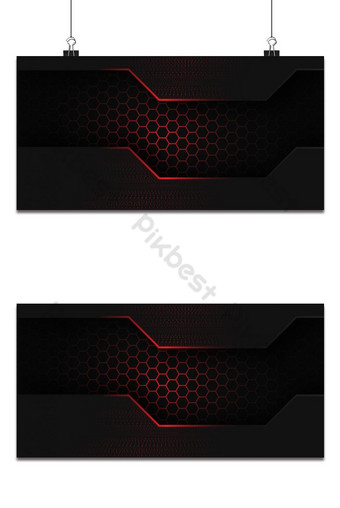 fondo brillante hexágono rojo oscuro Fondos Modelo PSD
