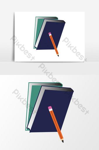 elemento gráfico de vector de logotipo de libro Elementos graficos Modelo AI