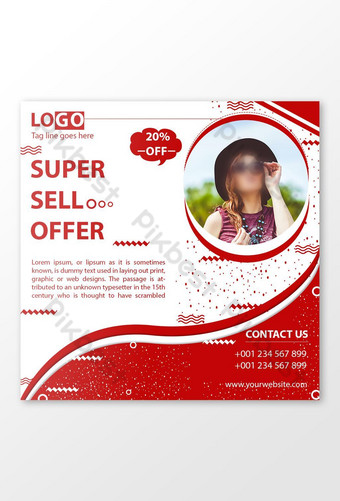 Social Media Super Sell Offer Post Template PSD
