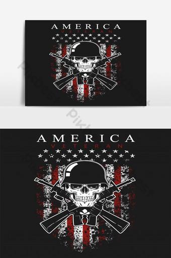 día del veterano bandera americana imagen de fondo gráfico vectorial Elementos graficos Modelo EPS