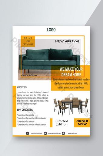 стильный дизайн флаера для продажи мебели шаблон AI