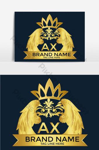 plantilla de diseño de logotipo de crecimiento empresarial elemento gráfico de vector de logotipo de lujo real Elementos graficos Modelo AI