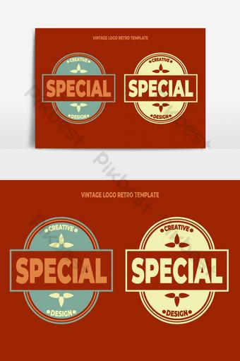 diseño de logotipo vintage en estilo retro Elementos graficos Modelo EPS