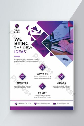 Modèle de Flyer d'entreprise créative professionnelle Modèle AI