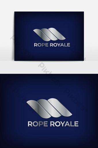 simple logo minimalista rope royale Elementos graficos Modelo EPS