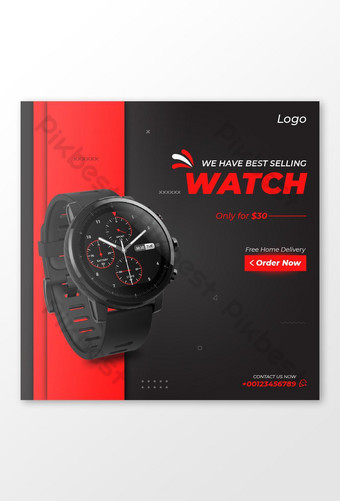 Sell a Luxury Watch Social Media Post Template AI