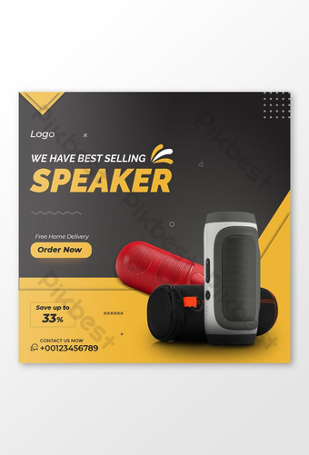 Sell a Speaker Social Media Post Template AI